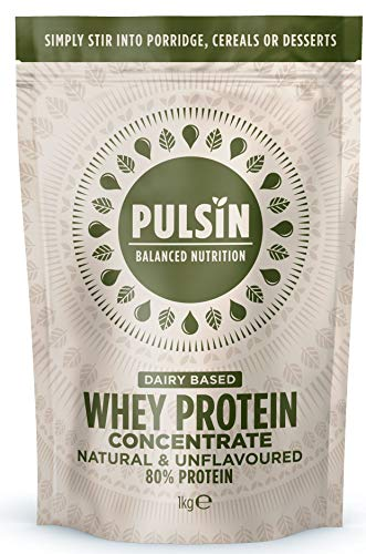 Pulsin' Unflavoured Whey Concentrate Protein Powder 1kg
