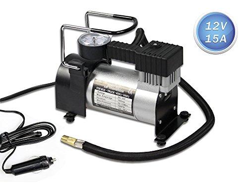 Vetrineinrete Compressore aria compressa 12 Volt con presa accendisigari gonfiatore con capacità 35 litri pompa per gonfiaggio pneumatici auto moto bici con manometro 12v AR02 C34