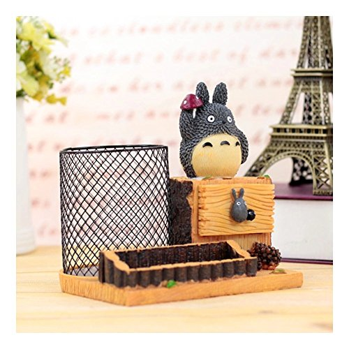 HEYFAIR Cute Totoro Ironwork Pen Pencil Holder Desk Organizer Accessories (A)