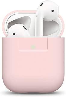 elago Funda Silicona Compatible con Audífonos Apple AirPods 1 & 2 (LED Frontal Visible) - Soporta Carga inalámbrica, Extra Protección, Sin Complicaciones - Lovely Rosa