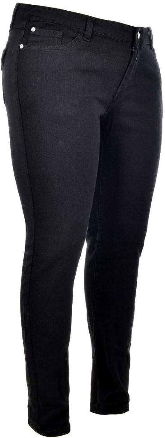 1826 Blue/Black Denim Jeans HIGH Waist Womens Plus Size Pants Skinny Leg PL-882
