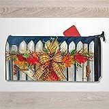 Casella postale Copertura Autunno Cancello Recinzione Involucro Magnetico Adesivo Impermeabile Casella Postale Decorazione per Casa Giardino Pack Decal 47,5 x 57,5 cm