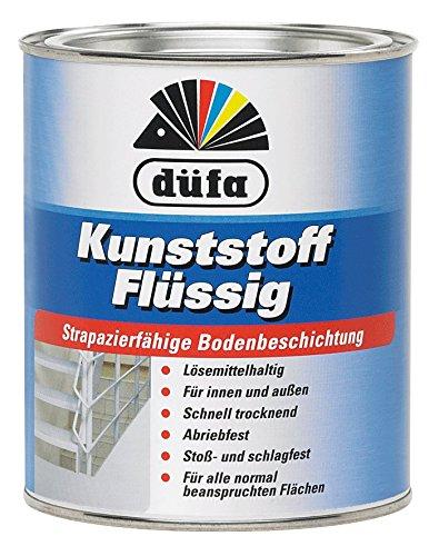 Düfa Kunststoff Flüssig Bondenbeschichtung Seidenmatt 2,5 Liter Farbwahl, Farbe (RAL):RAL 7032 Kieselgrau