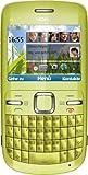 Nokia C3-00 Smartphone (6.1 cm (2.4 Zoll) Bildschirm, Bluetooth, 2 Megapixel Kamera, QWERTZ-Tastatur) lime green
