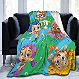 Bubble Guppies Plush Blanket Soft Micro-Flannel Throw Blanket Children Boys and Girls Bed Sofa Chair Light and Suitable for All Season Gifts