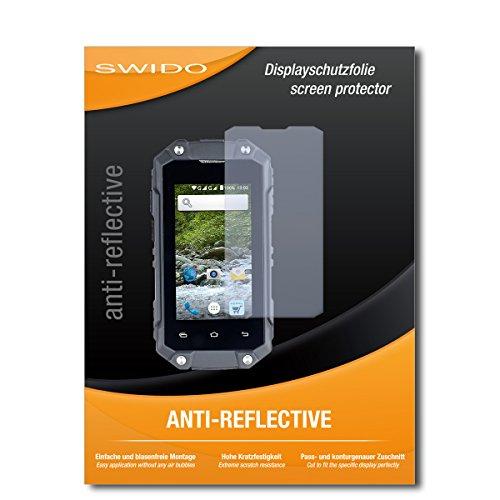 SWIDO Bildschirmschutz für Simvalley Mobile SPT-210 [4 Stück] Anti-Reflex MATT Entspiegelnd, Hoher Härtegrad, Schutz vor Kratzer/Glasfolie, Schutzfolie, Bildschirmschutzfolie, Panzerglas Folie