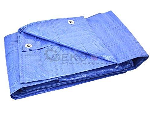 Geko G01936 Abdeckplane, 6 x 10 m, Blau