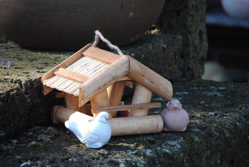 Vogelhaus zum Hängen aus Holz,M.663 - 3