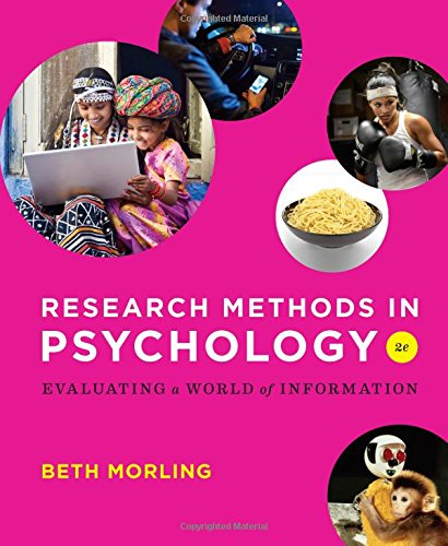 Download Research Methods in Psychology: Evaluating a World of Information 0393936937