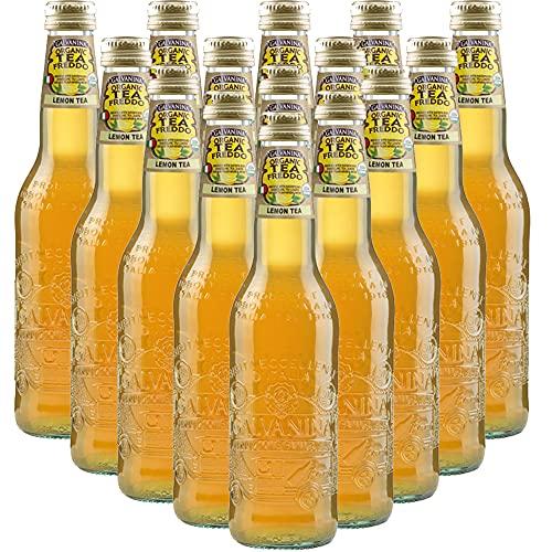 Tè Limone Bio   Galvanina   12 Bottiglie in Vetro Scolpito   355 Ml   Eccellenza Italiana   Infuso delle Migliori Foglie di Te   Bibita Dissetante Biologica