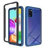 Funda Galaxy A70, pata de cabra con anillo magnético de 360 grados, parachoques de TPU, antiarañazos, versátil, cubierta protectora resistente para todo el cuerpo para Samsung Galaxy A70 (Azul)