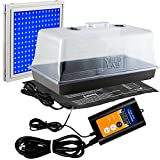 Yield lab Seed and Clone Starter Kit with 24w All Blue LED Grow Light
