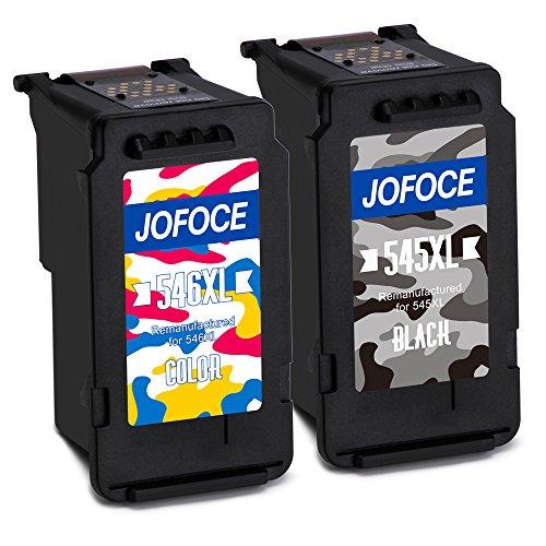 Jofoce Remanufactured Canon PG-545XL CL-546XL 545 546 Cartucce d'inchiostro, Compatibile con Canon Pixma MG2450 MG2550S iP2850 MX495 MG3050 MG3051 MG2950 MG3053 MX490 Stampante (1 Nero,1 Tricromia)