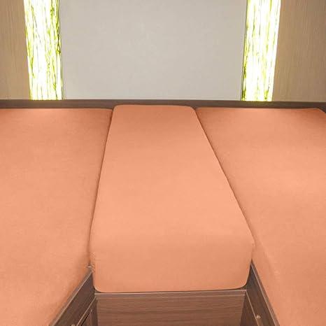 G Bettwarenshop Wohnmobil Wohnwagen Heckbett Spannbetttuch Set 3 Teilig Rose 2 Längsbetten Mittelteil Küche Haushalt