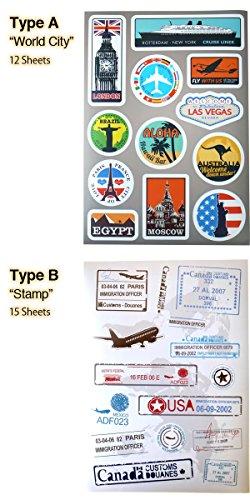 """『トリップ&リゾート ステッカー/PVC 防水 (Type F""""Classic Airline"""") [並行輸入品]』の3枚目の画像"""