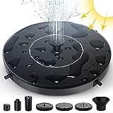 Bomba de Fuente Solar - THEGUS 1.4W Fuente de Jardín con 6 Boquillas, Independiente, Kit de Bomba Sumergible para Fuente Exterior, Bomba Flotante para Tanques de Pájaros, Estanque, Piscina, Jardín