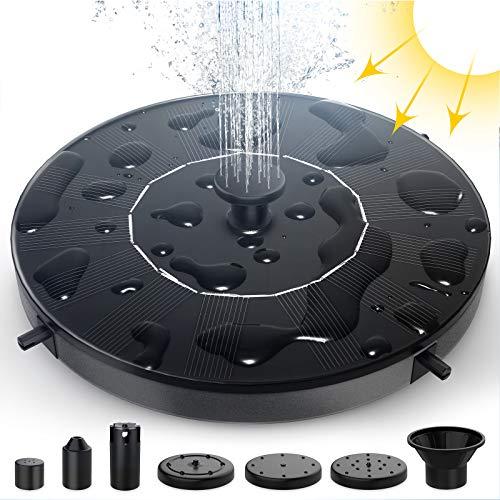 Bomba de Fuente Solar - THEGUS 1.4W Fuente de Jardín con 6 Boquillas, Independiente,...