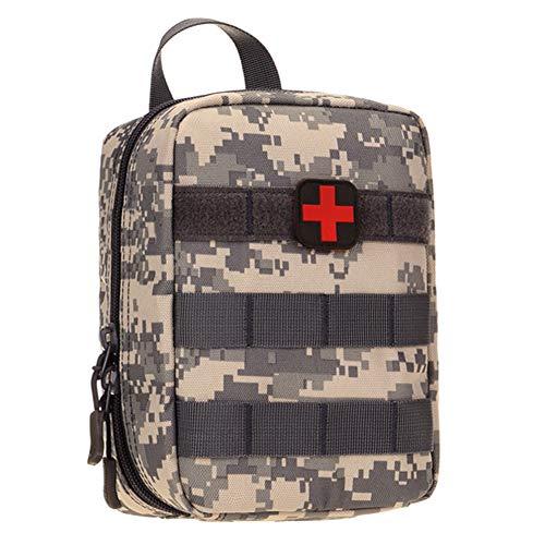 Selighting MOLLE Médico Bolsa de Primeros Auxilios Mochila Militar Multifunción Bolsa Táctica Compacta Botiquín Médico con Parche al Aire Libre para Caza,Campimng (camuflage-1)