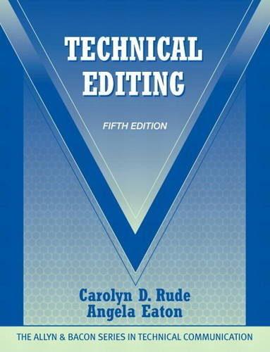 Technical Editing (Allyn & Bacon Series in Technical...