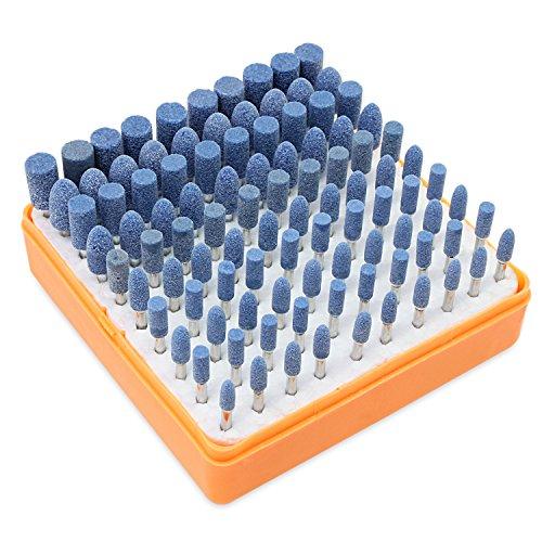 HSeaMall 100 STÜCKE Schleifen Polierkopf Schleifstein Dorn montiert Polieren Polierkopf Multifunktionale Polieren Zubehör Für Dremel Präzisionswerkzeuge