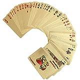 1 Baraja x Poker Cards - Cartas de Póquer de Color Oro Plástico ( Style : Euro )