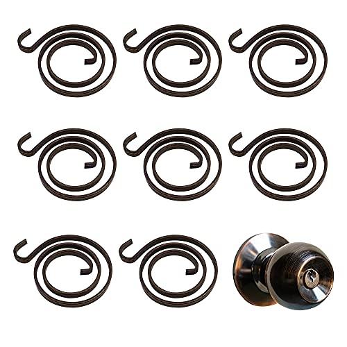 CYUaoao Kit de reparación de resortes para manija de puerta (20 x 2,5 vueltas, 1,1 mm, revestimiento de zinc negro)