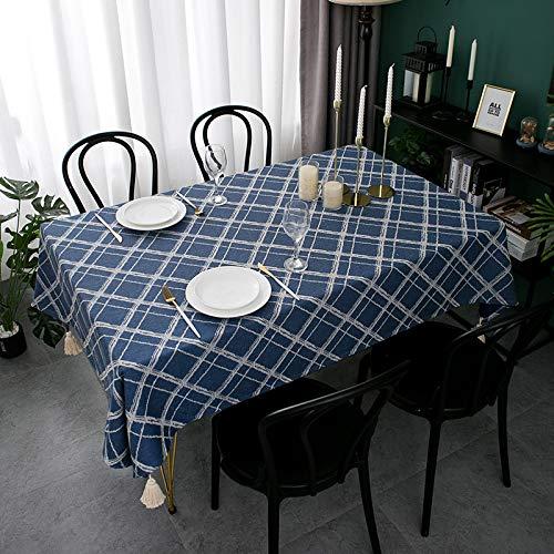 PhantasyIsland.com Mantel Rectangular de Cocina Moderno Efecto Lino Tela Decorativo 135 * 200CM