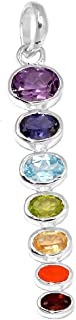 Xtremegems Healing Chakra 925 Sterling Silver Pendant Jewelry 2 1/4 CP125
