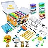 ESSENSON Kit de Arcilla de Modelado – 36 Colores de Arcilla mágica Seca al Aire, Suave y Ultra DIY Arcilla Moldeadora, Manualidades para niños, niños y niñas