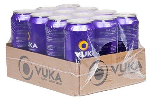 Vuka Think Pomegranate Lychee Sparkling Natural Energy Drink, 16oz, 12 Pack