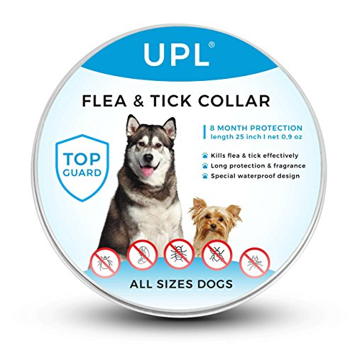UPL Flea and Tick Prevention for Dogs, Flea and Tick collar for Dogs, One Size Fits All, 25 inch, 8...