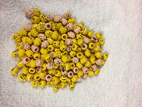 LEGO 25 cabezas de minifiguras aleatorias Flesh & Yellow Male & Femene.