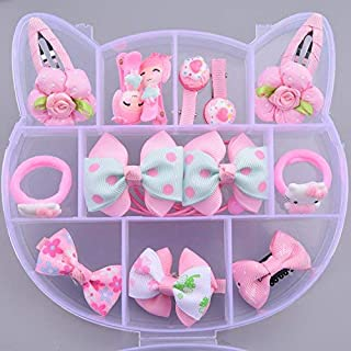 Golden Bird - Baby Girl's Hair Clips Cute pink Hair Bows/clips Baby Elastic Hair Ties Hair Accessories Ponytail Holder Hai...