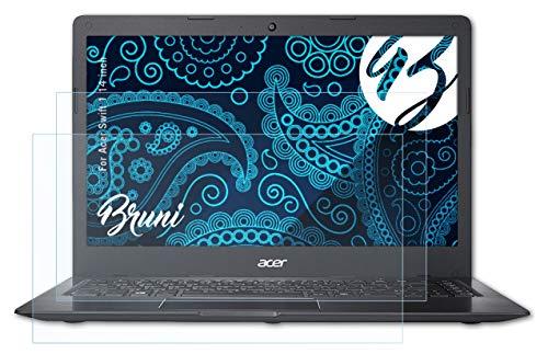 Bruni Schutzfolie kompatibel mit Acer Swift 1 14 inch Folie, glasklare Bildschirmschutzfolie (2X)