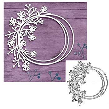 Circle Flowers Lace Metal Cutting Die Cuts Flowers Lace Stencils DIY Crafts Cards Cutting Dies Cuts for DIY Embossing Card Making Photo Decorative Paper Dies Scrapbooking