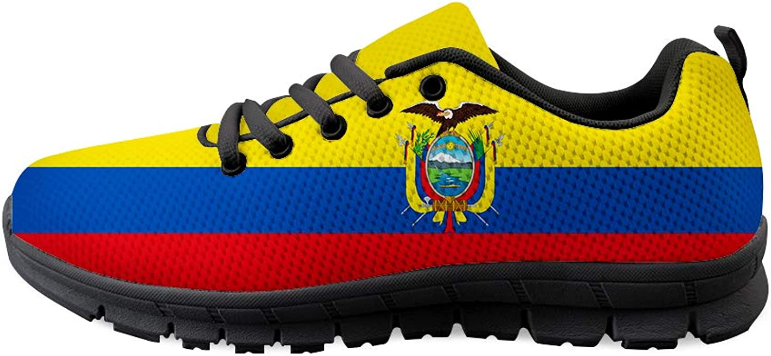 Owaheson Lace-up Sneaker Training shoes Mens Womens Ecuador Flag
