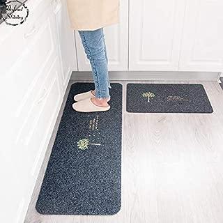 Infant Shining 2PCS Floor Mats Anti-skiddin Water Uptake Oil Absorption Carpet Long Kitchen Door Bathroom Mat Door Mat