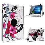 UC-Express Schutzhülle kompatibel für Archos 101 Platinum 3G Tablet Hülle Tasche Hülle Cover 360° Drehbar, Farbe:Motiv 8
