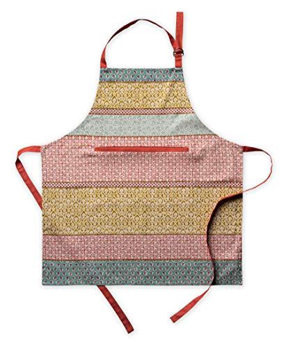 Maison d' Hermine Provence 100% Baumwolle 1-teilige Küchenschürze mit verstellbarem Hals und versteckter Mitteltasche, Langen Krawatten für Frauen/Männer   Küchenchef   Kochen(70cm x 85cm)