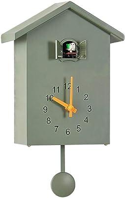 Kookoo Birdhouse Noir Coucou Moderne Avec Chants Des 12 Oiseaux Ou Coucou Horloge Coucou Design Avec Pendule Enregistrement Naturels De Jean Claude Roche Amazon Fr Cuisine Maison