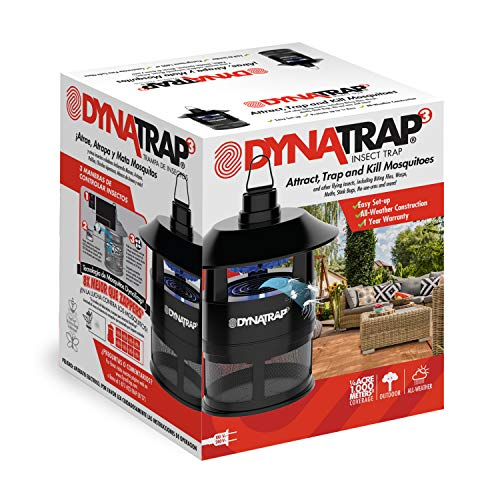 DynaTrap ¼ Acre Outdoor Mosquito and Insect Trap – Black