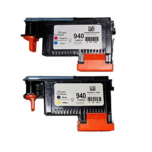 Wolfgray 2 Pack HP940XL 940 Druckkopf für HP Officejet Pro 8000 8500 Hp 940 Print Head C4900A C4901A for HP Officejet Pro 8000 8500 8500A 8500A Plus 8500A Druckers
