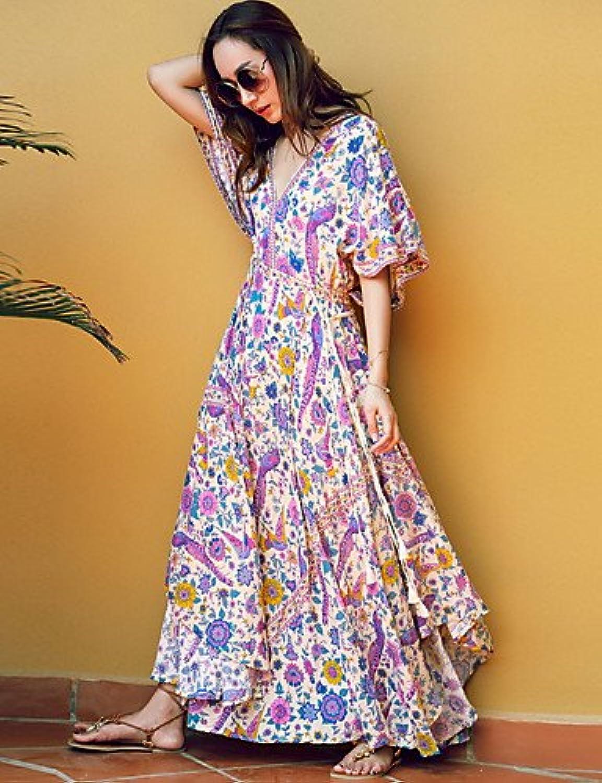 Women's Basic Swing Dress  Floral
