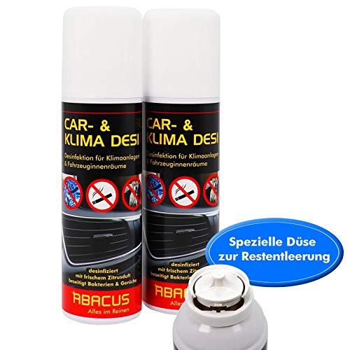 2x 200 ml Car- & Klima Desi Klimaanlagenreiniger / Klimadesinfektion für Auto (7301)