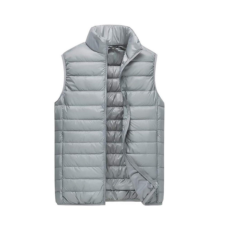 メンズ冬ノースリーブダウンコットンベストシーズンパッド入りジレ暖かい軽量簡単にコートチョッキを格納する,3,M
