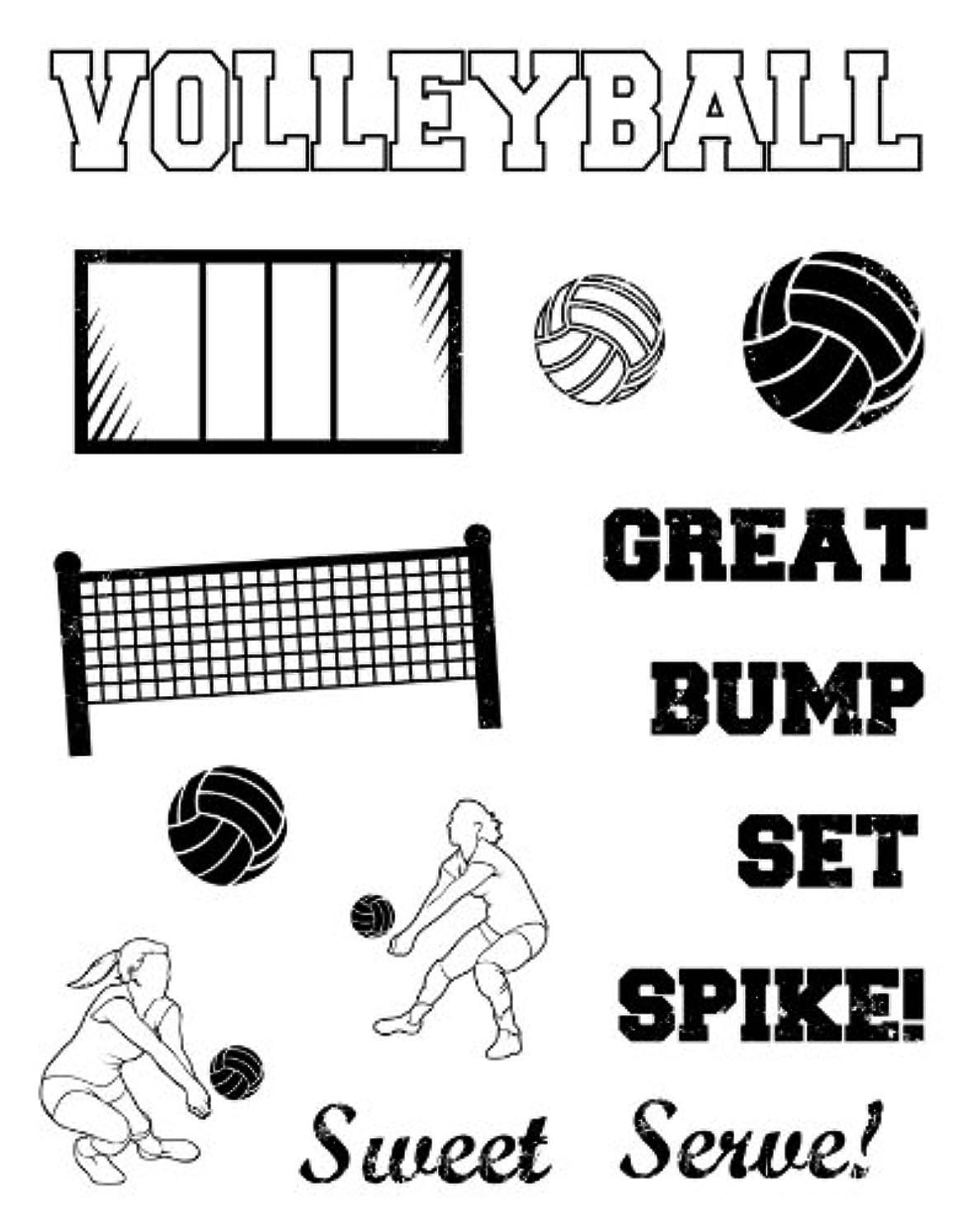 Karen Foster Design, Clear Stamp Set, Volleyball