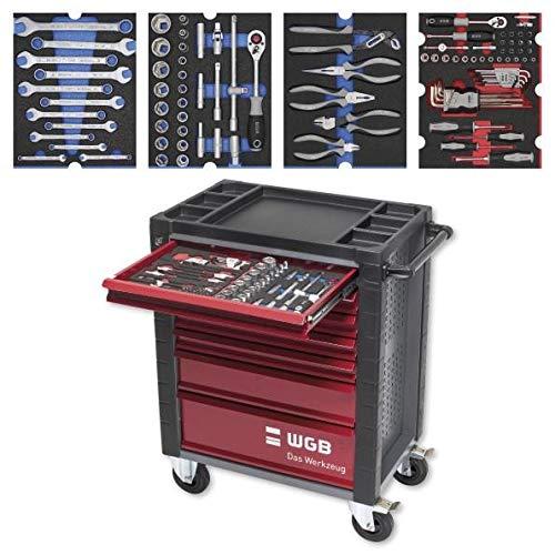 Werkstattwagen bestückt mit 6 Modulen | 7 Schubladen | No.145 | stabile Stahlblechkonstruktion | WGB
