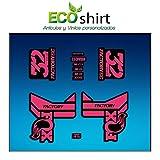 Ecoshirt E8-4FAD-G3AD Pegatinas Stickers Fork Fox 32 Factory SC Float 2017 Am87 Aufkleber Decals Autocollants Adesivi Forcela Gabel Fourche, Rosa