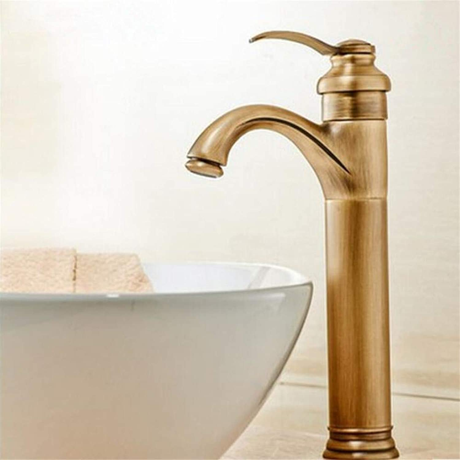 360° redating Faucet Retro Faucetcold Water Faucet Heightening Single Hole Above Counter Basin Faucet Retro Faucet