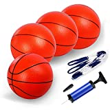 TNELTUEB Mini Pool Basketball for Kids ,8.5'' Replacement Mini Basketball Fits All Standard Swimming Pool Basketball Hoop Indoor Outdoor Pool Game Toy Water Games (Air Pump)